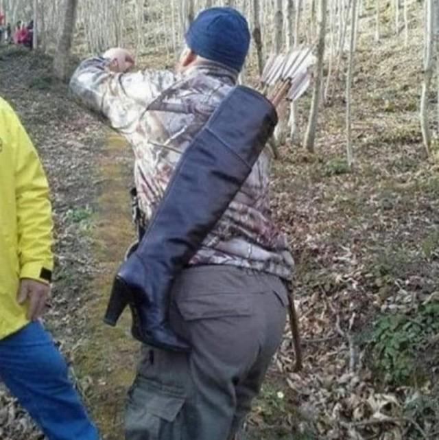 Когда потерял колчан, а на охоту всё равно нужно идти