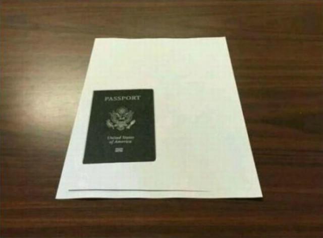 Когда ты просил ксерокопию паспорта, но тебя почему-то не поняли